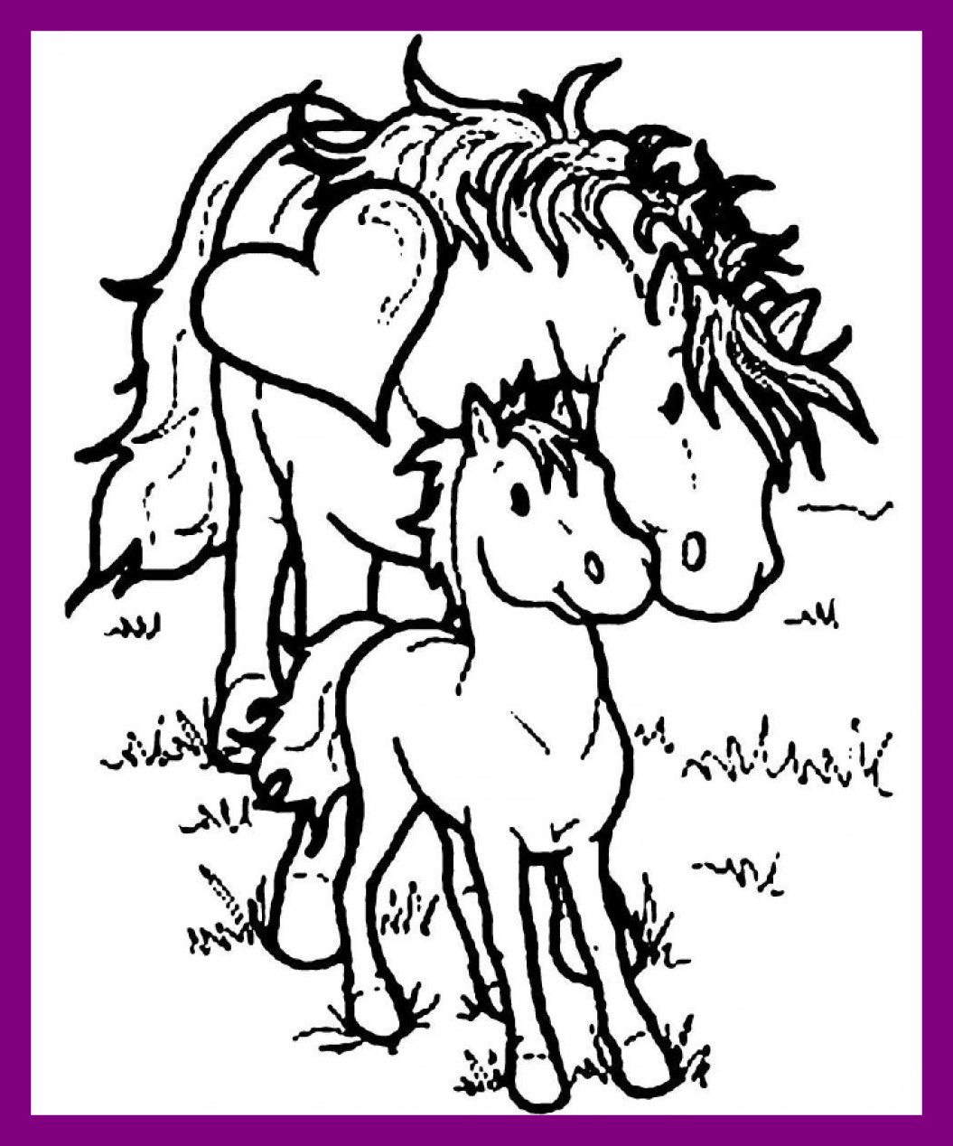1055x1268 Christmas Horse Coloring Page