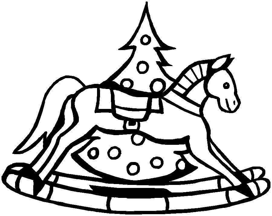900x716 Christmas Horse Coloring Pages
