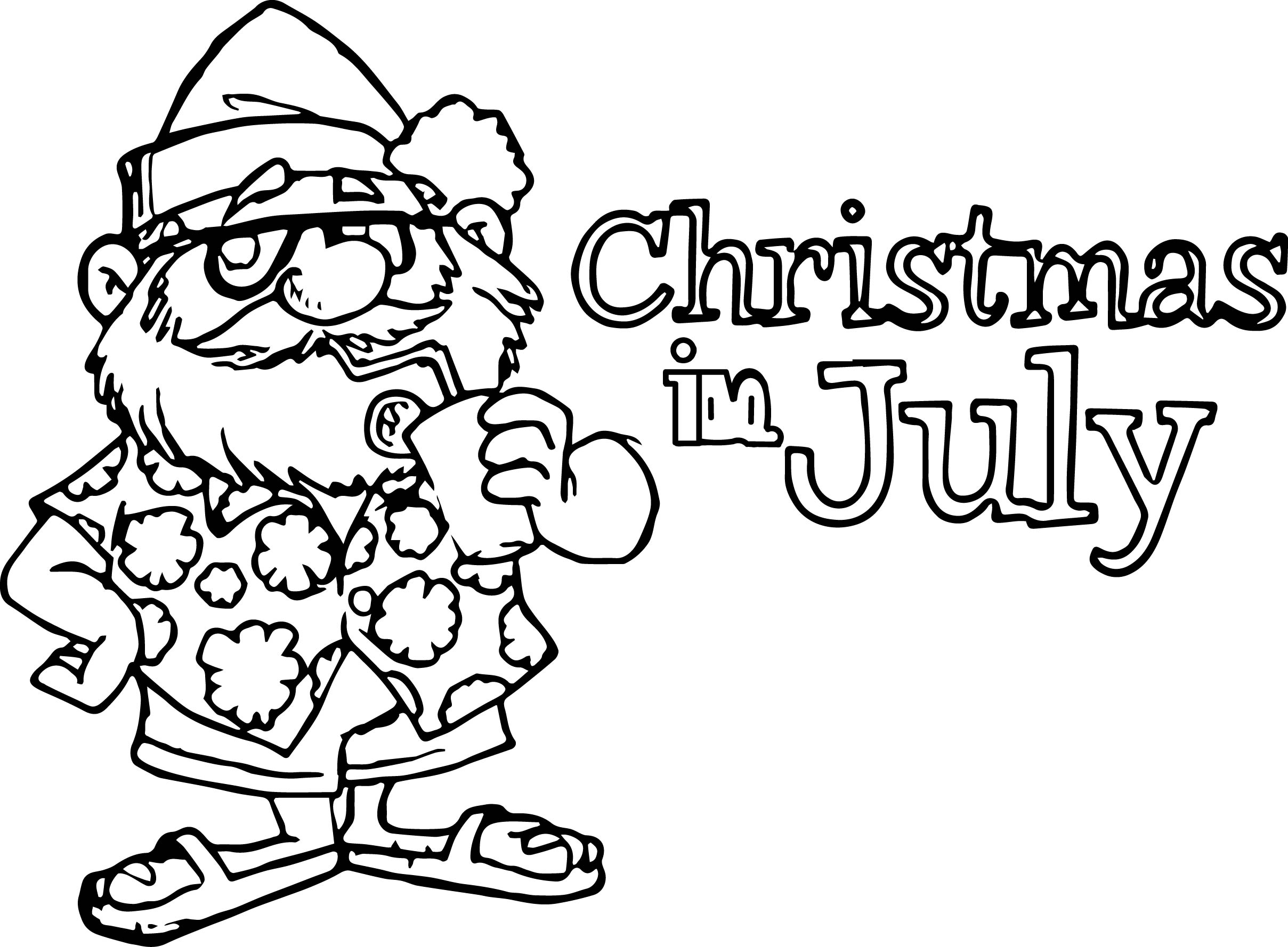 2417x1778 Of July Christmas In July Coloring Page Wecoloringpage