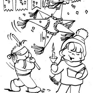 300x300 Pinata Coloring Page Best Other Popular Coloring With Pinata