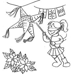 236x246 Las Posadas Coloring Page Spanish, Holidays And December