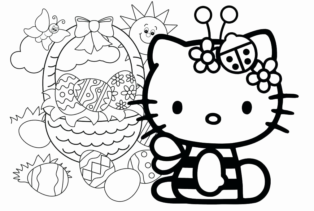 Christmas Kitty Coloring Pages