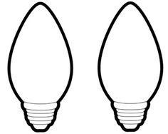 236x188 Christmas Light Bulb Coloring Page