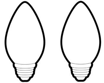 350x280 Large Christmas Light Bulb Coloring Page