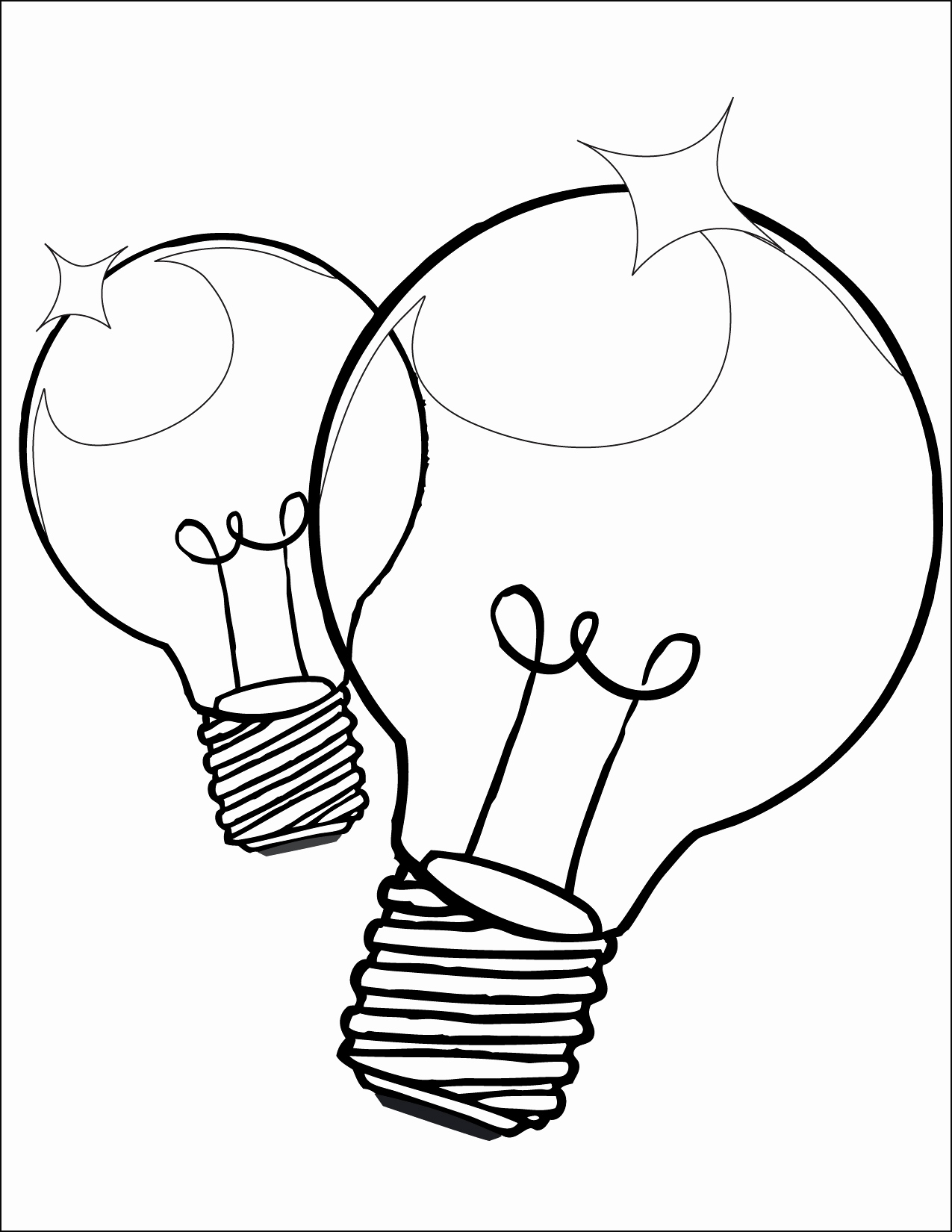 1275x1650 Light Bulb Coloring Page Fresh Christmas Light Coloring Page