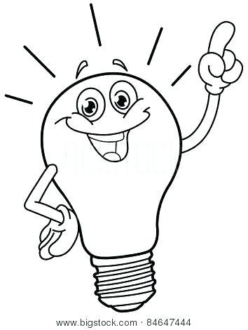 354x470 Printable Light Bulb Coloring Page Lights Coloring Page Bulb