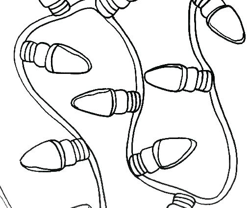 Christmas Lights Coloring Pages Printable At Getdrawings Com Free