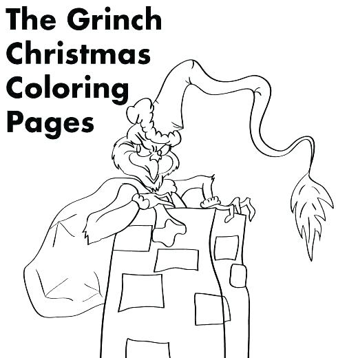 520x520 Blank Christmas Coloring Pages Free Stocking
