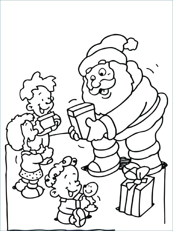 600x800 Christmas List Coloring Page