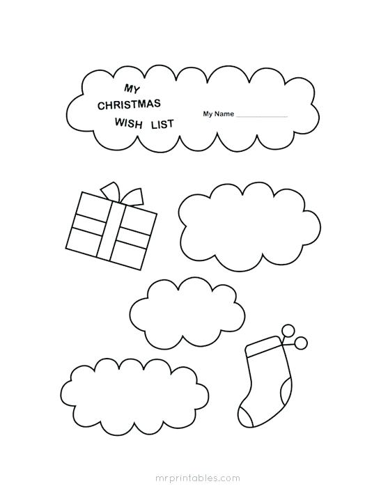 547x718 Christmas Wish List Coloring Page With Sleigh And Gifts A Wish