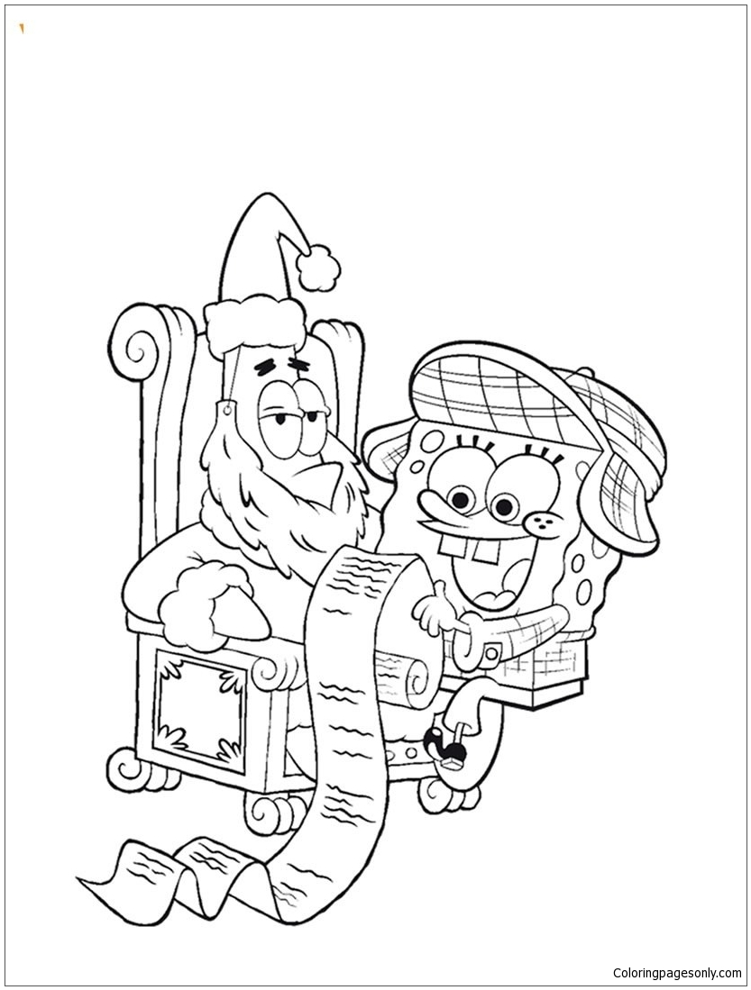 833x1099 Cool Christmas Wish List Coloring Page