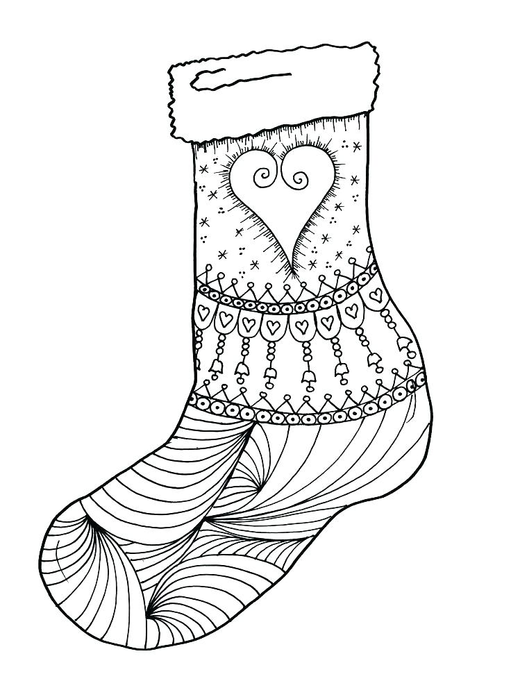 736x981 Stocking Coloring Sheets Stocking Coloring Page Stocking Coloring
