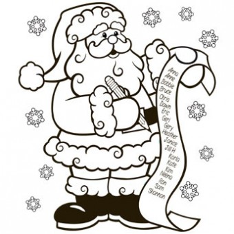 340x340 The Nice List Coloring Page