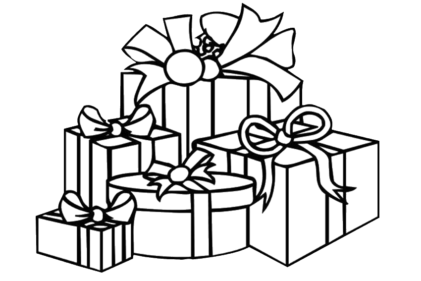850x567 Christmas Gift Coloring Pages Christmas Presents Coloring Pages