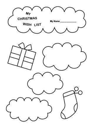 320x432 Printable Christmas Wish List Coloring Page Free Printable