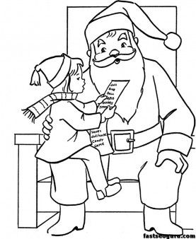 277x338 Wish List For Christmas Santa Coloring Pages