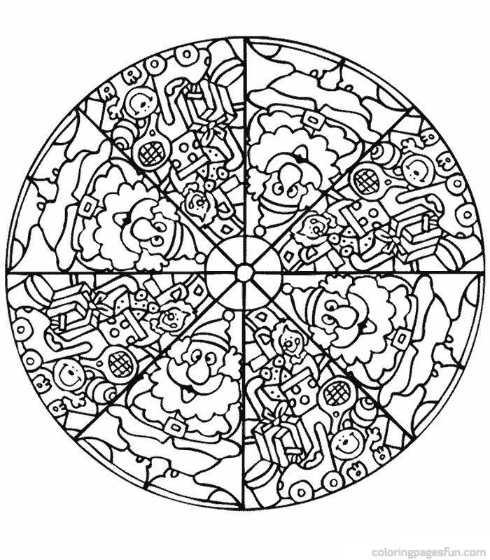 Christmas Mandala Coloring Pages Printable At Getdrawings Free Download