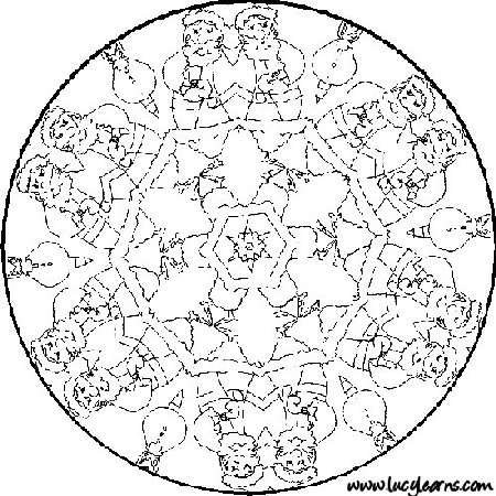 Christmas Mandala Coloring Pages Printable At Getdrawings Com Free