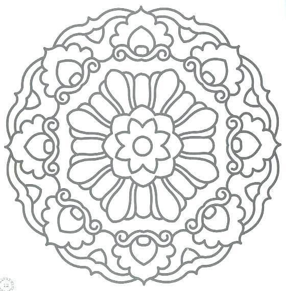 560x569 Adult Coloring Pages Mandala Christmas Mandala Printables Mandala