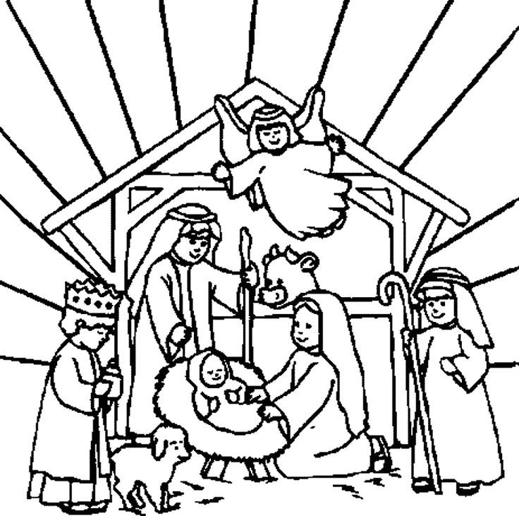 Christmas Manger Coloring Pages at GetDrawings.com | Free for ...