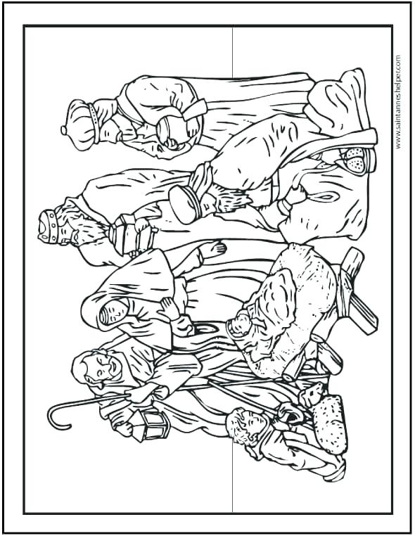 590x762 Coloring Pages Nativity In Manger Coloring Page Coloring Page