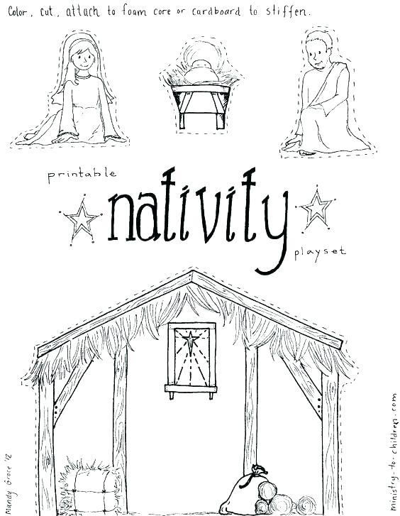 564x727 Manger Coloring Page Manger Coloring Page Nativity Scene Coloring