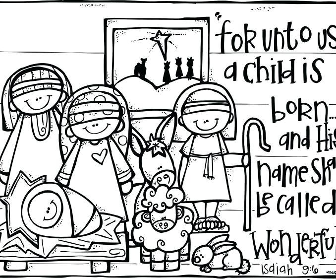 678x564 Christmas Nativity Coloring Sheets