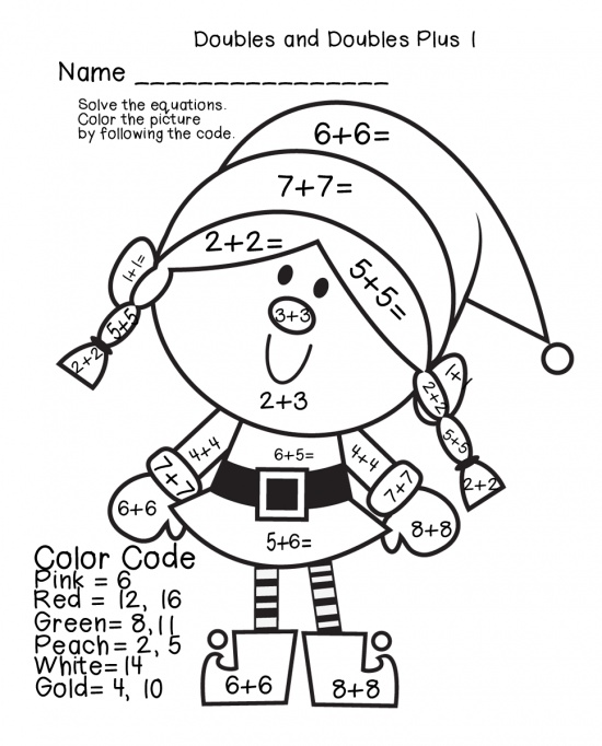 2nd Grade Coloring Pages Math Fall Fraction Christmas - Math ... | 682x550