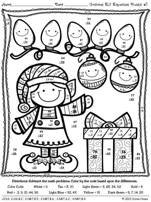 500x667 Free Math Christmas Coloring Sheets