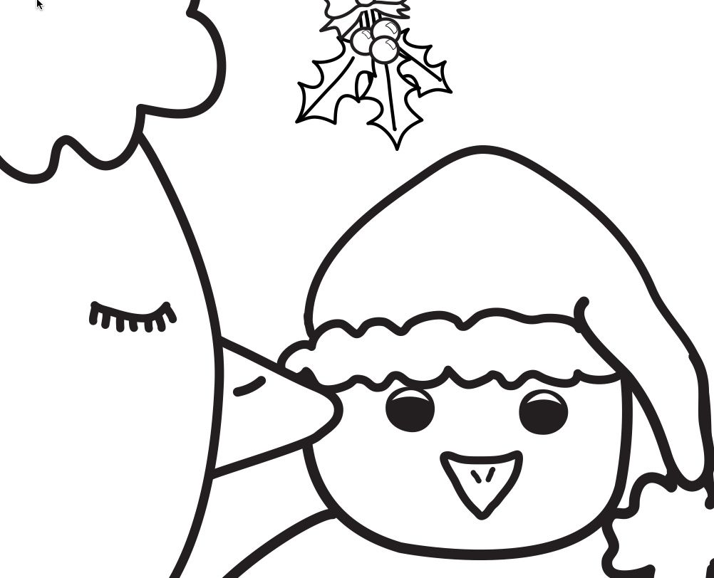 1002x812 Free Coloring Page Cuteness From Little Chicken's Big Christmas