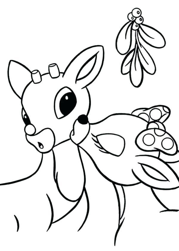 600x840 Mistletoe Coloring Pages