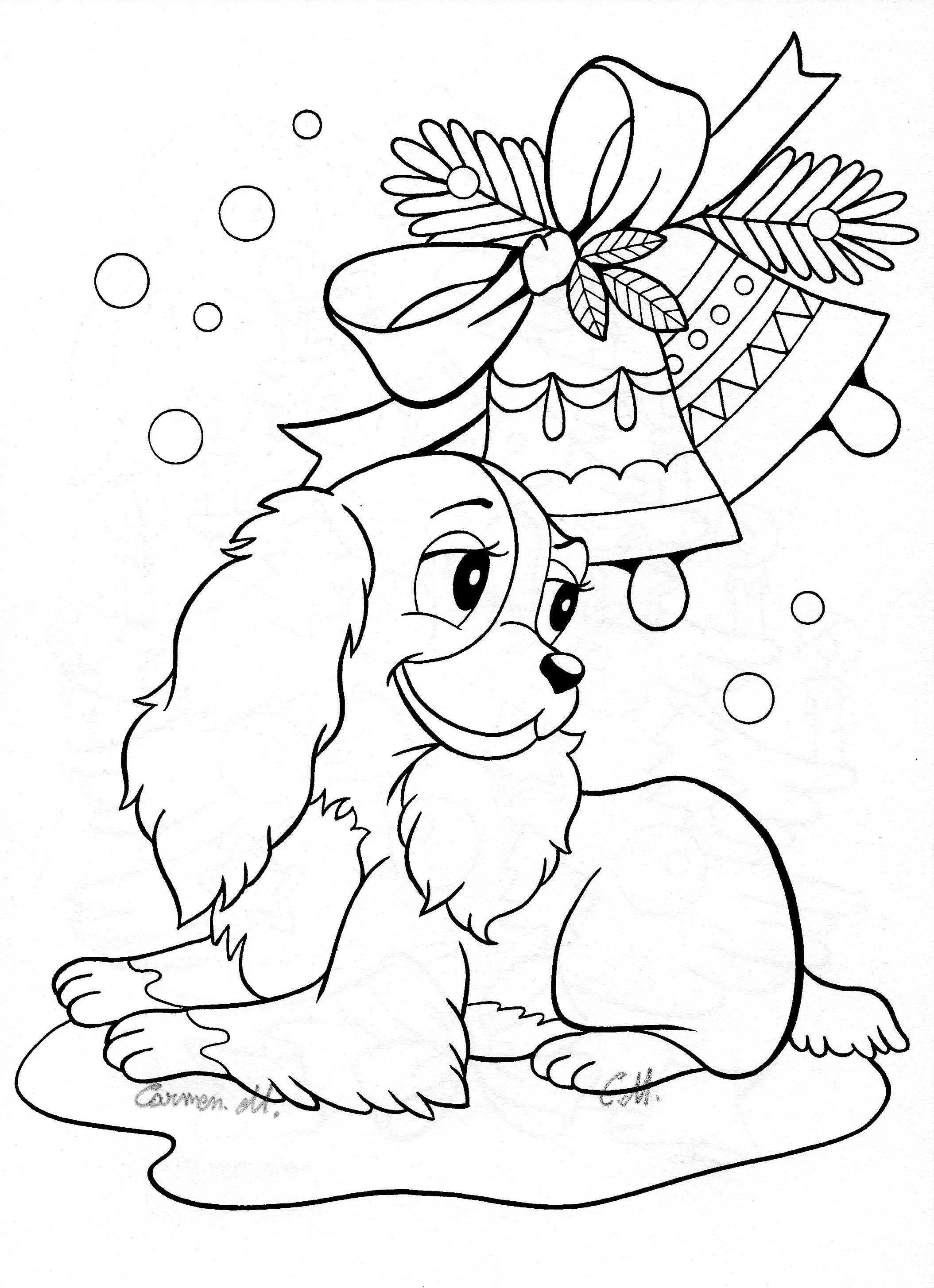 2109x2909 Christmas Cartoon Coloring Pages Mistletoe Free Coloring Sheets