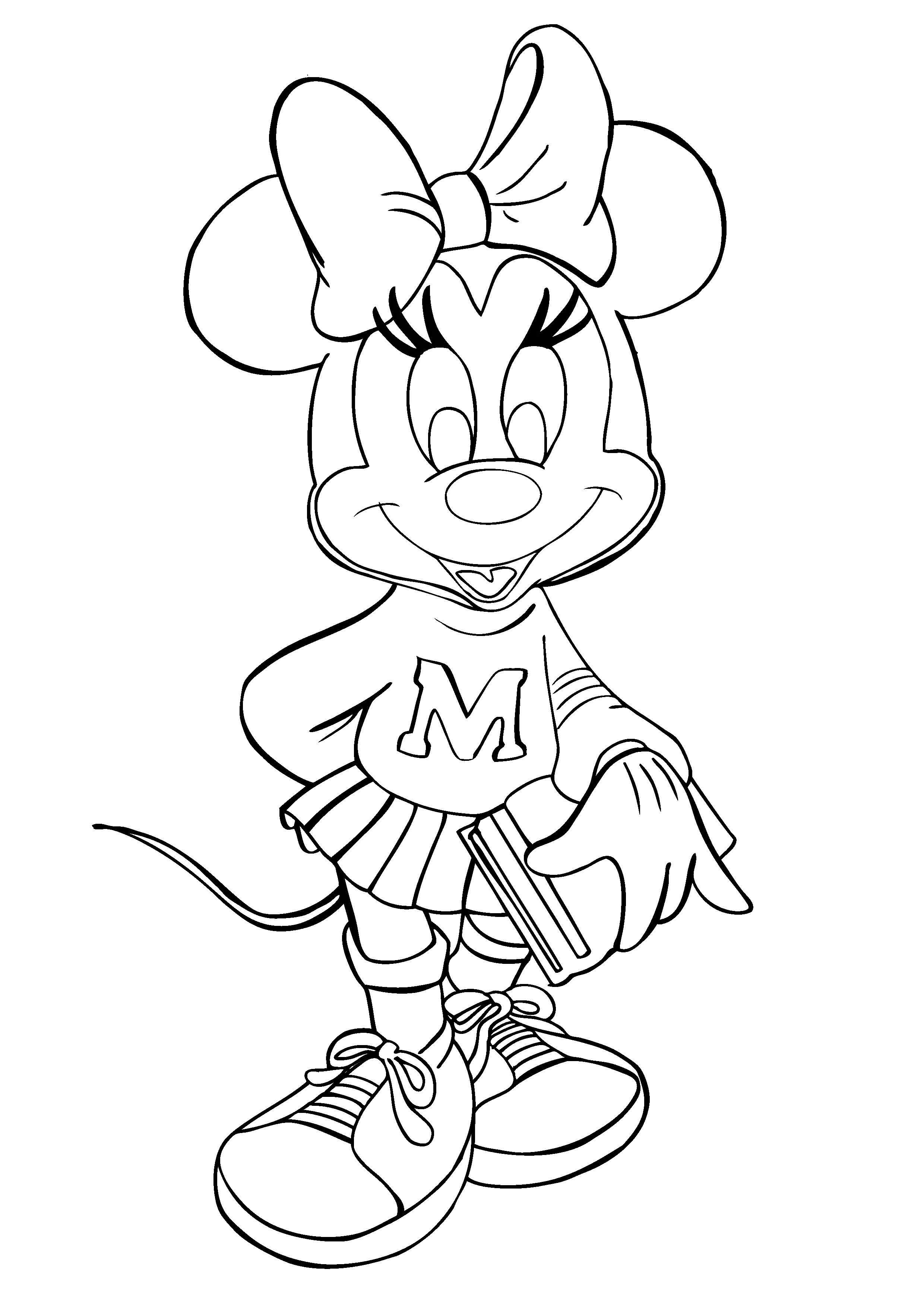 2480x3508 Beautiful Mini Mouse Coloringges Free Printable Mickey And Minnie