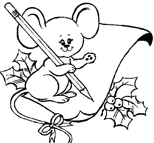 505x470 Christmas Mouse Coloring Pages