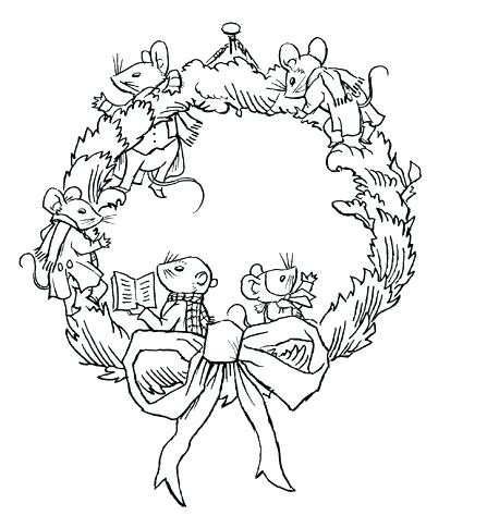 447x485 Christmas Mouse Coloring Pages