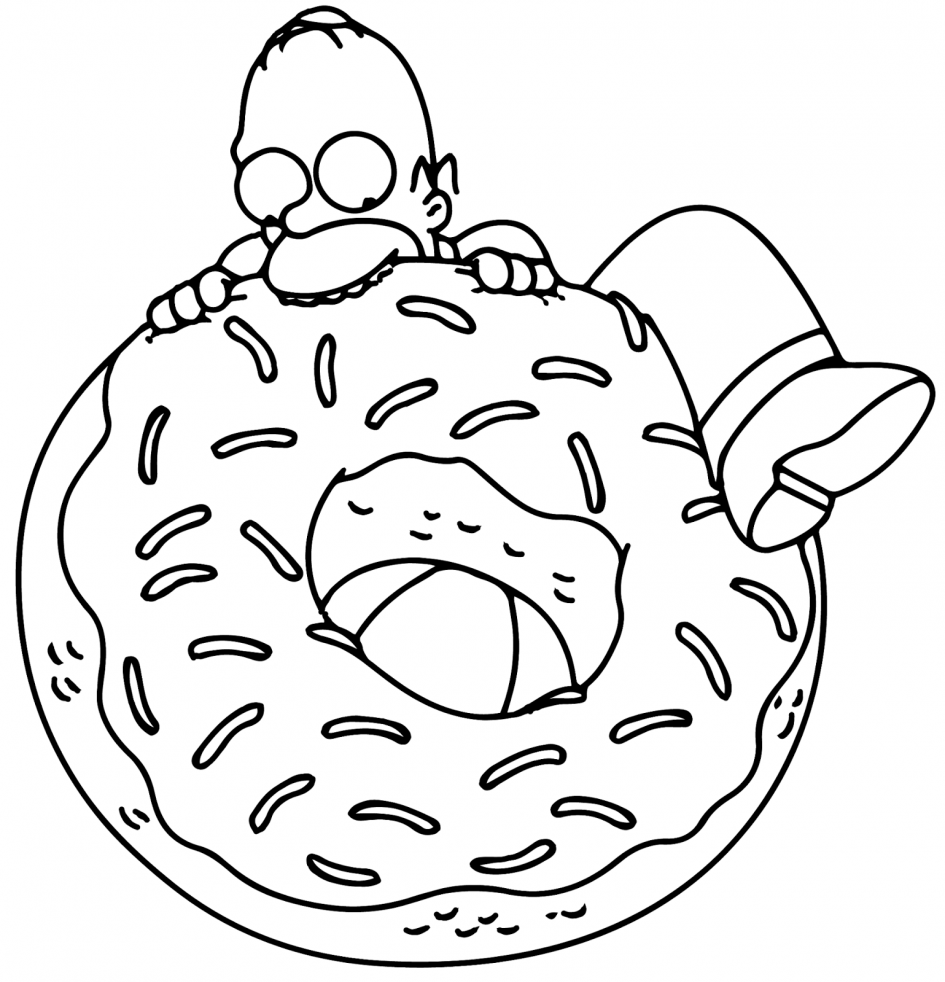 945x982 Clever Ideas Simpsons Coloring Pages To Print Printable