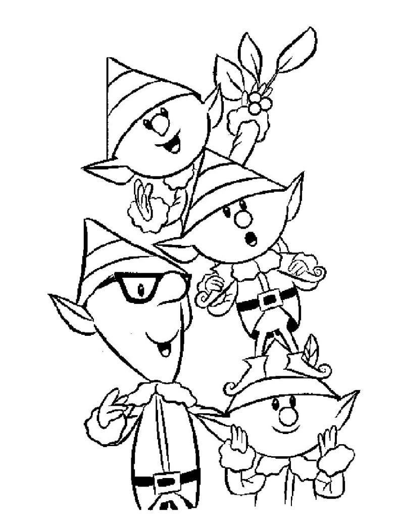 800x1034 Santa's Sprite Helpers Coloring Pages