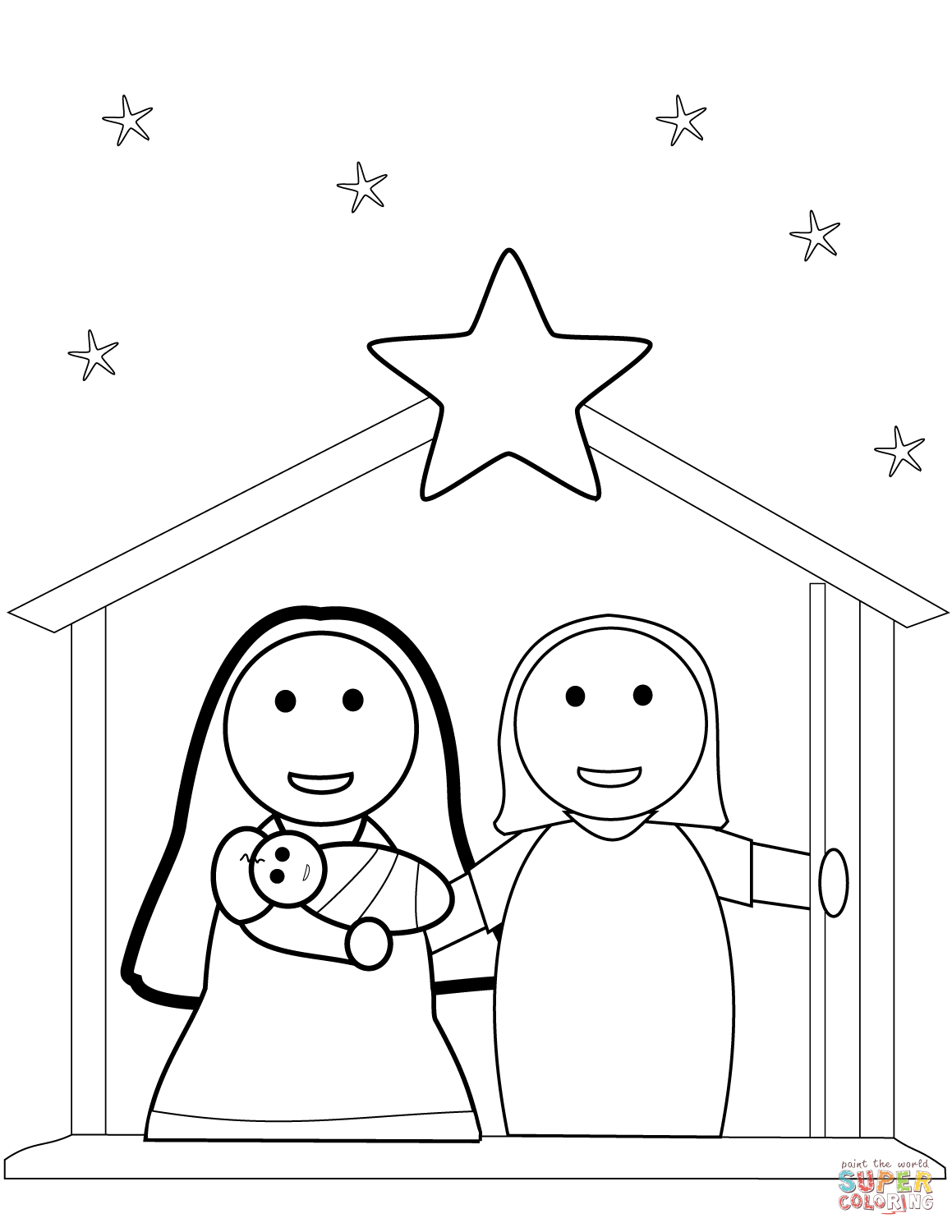 1159x1500 Christmas Nativity Coloring Pages