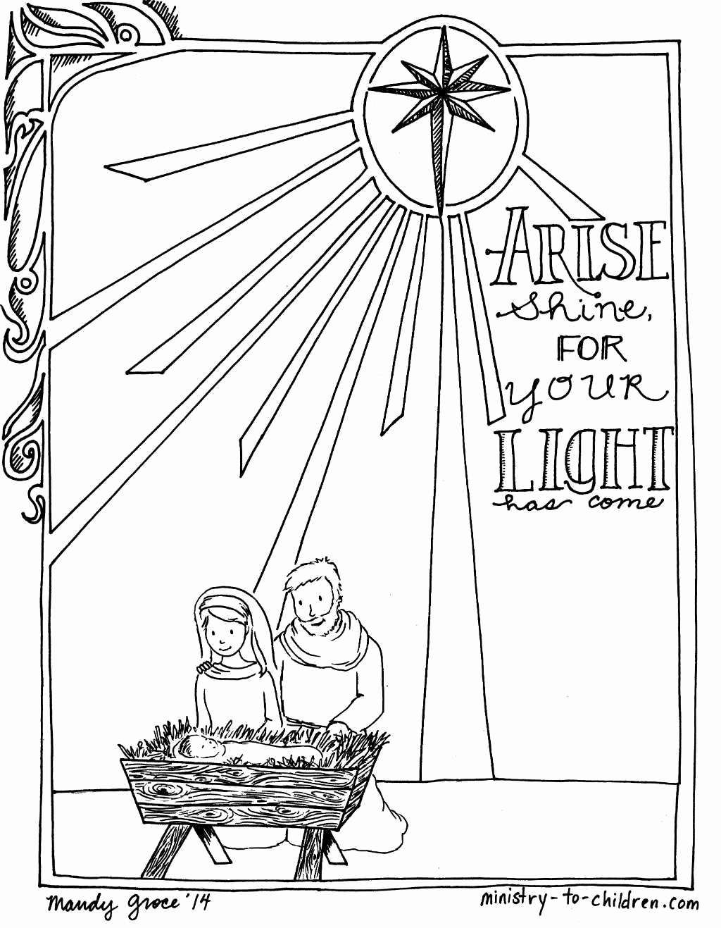 1024x1317 Clever Design Printable Christmas Nativity Coloring Pages The Most