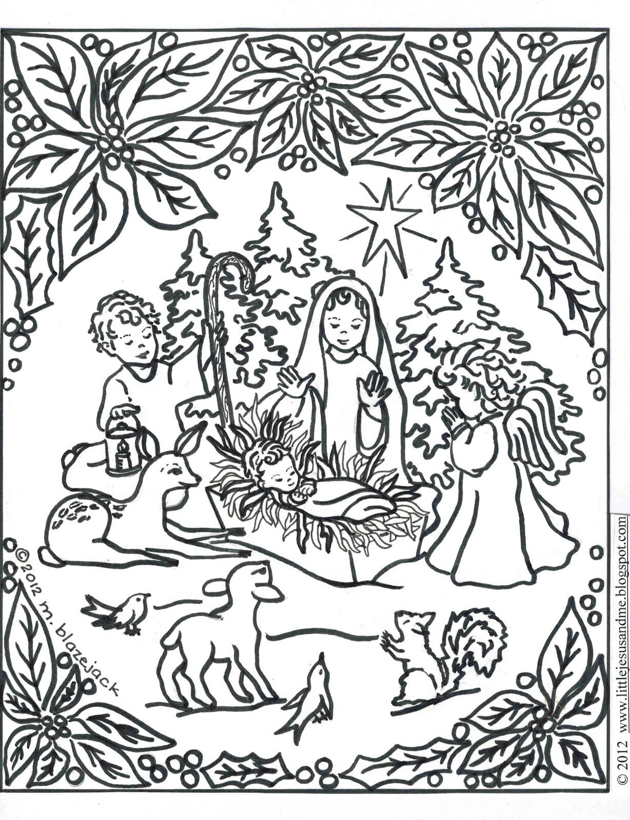 1228x1600 Fresh Baby Jesus Manger Coloring Pages Nativity Book Colorine