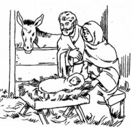 260x252 Best Nativity Coloring Pages Images On Xmas