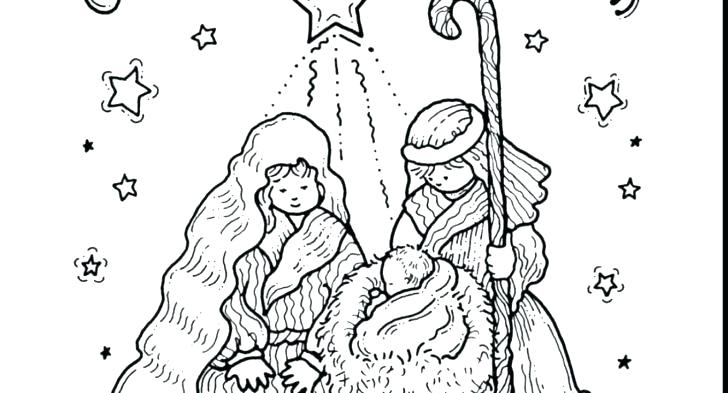 728x393 Printable Christmas Nativity Coloring Pages Printable Nativity