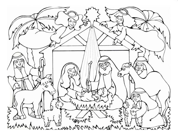 600x460 Born Of The King Of Jews In Nativity Coloring Page Color Luna