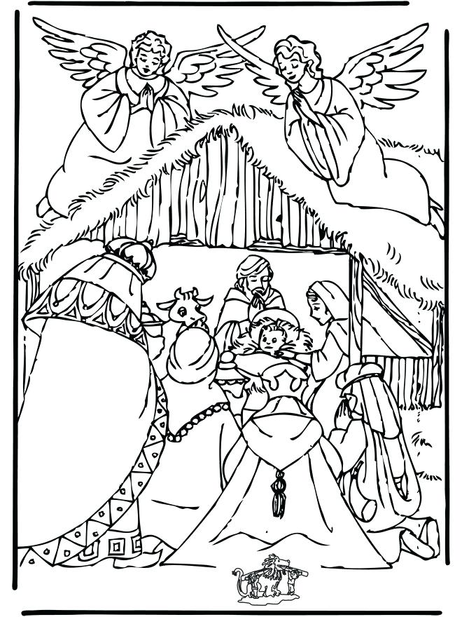 660x880 Christmas Coloring Pages Nativity Angel Colouring Page Nativity