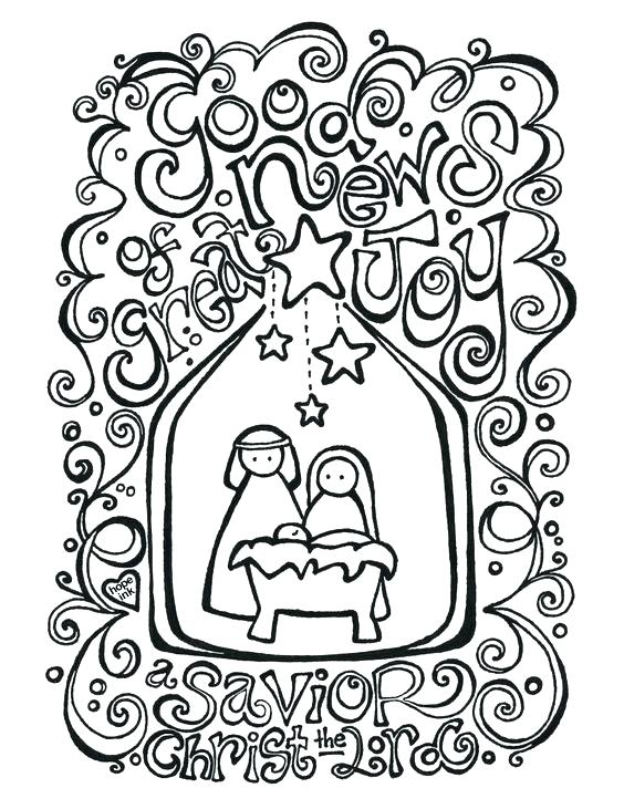 564x731 Christmas Nativity Coloring Pages Free Printable Nativity Coloring