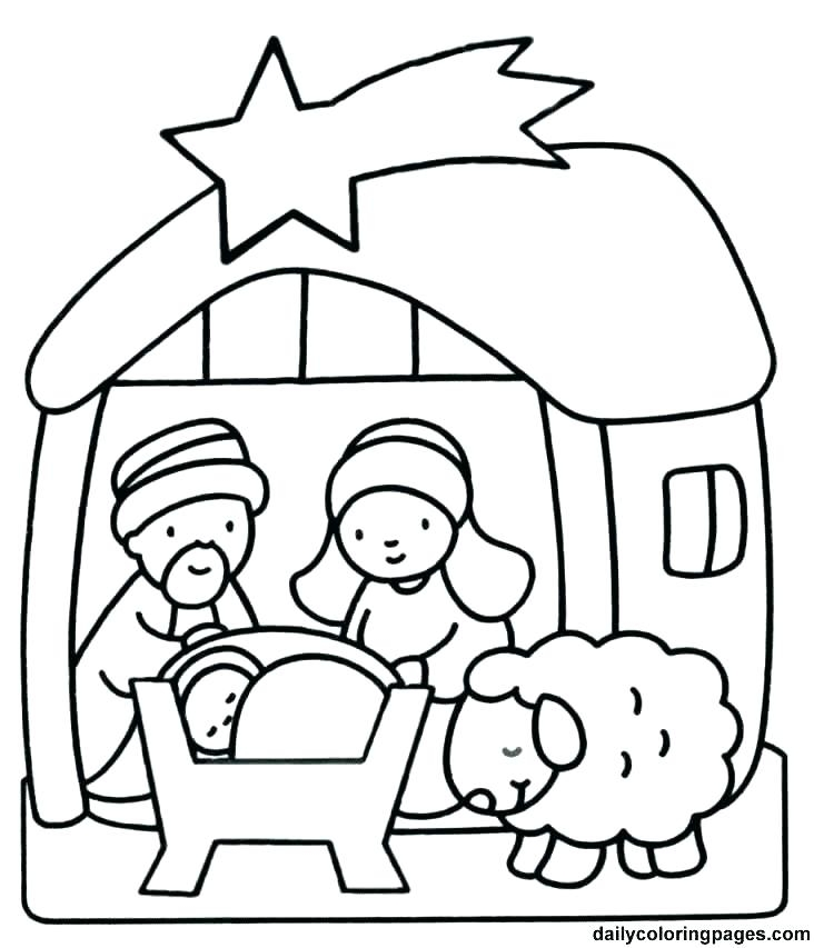 732x853 Coloring Pages For Christmas Nativity Printable Christmas Nativity