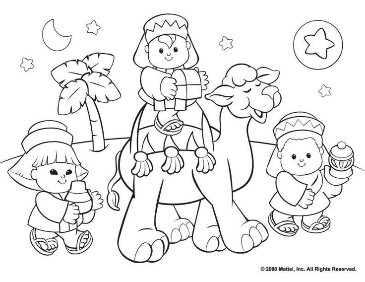 Christmas Nativity Coloring Pages Free at GetDrawings.com | Free for ...