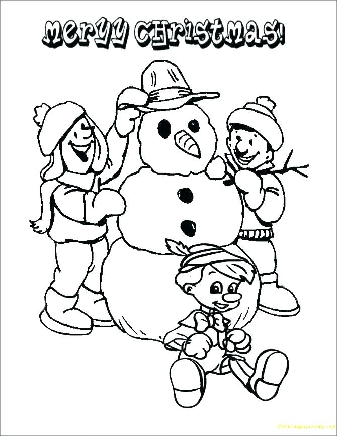 670x867 Christmas Coloring Pages To Print Free