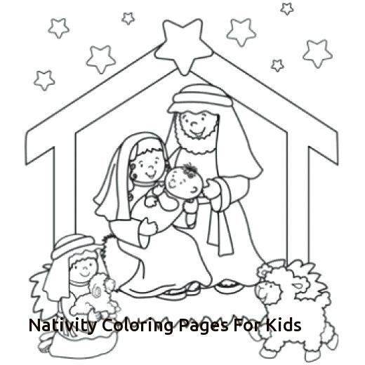 520x520 Christmas Nativity Coloring Pages Nativity Graham Coloring Page