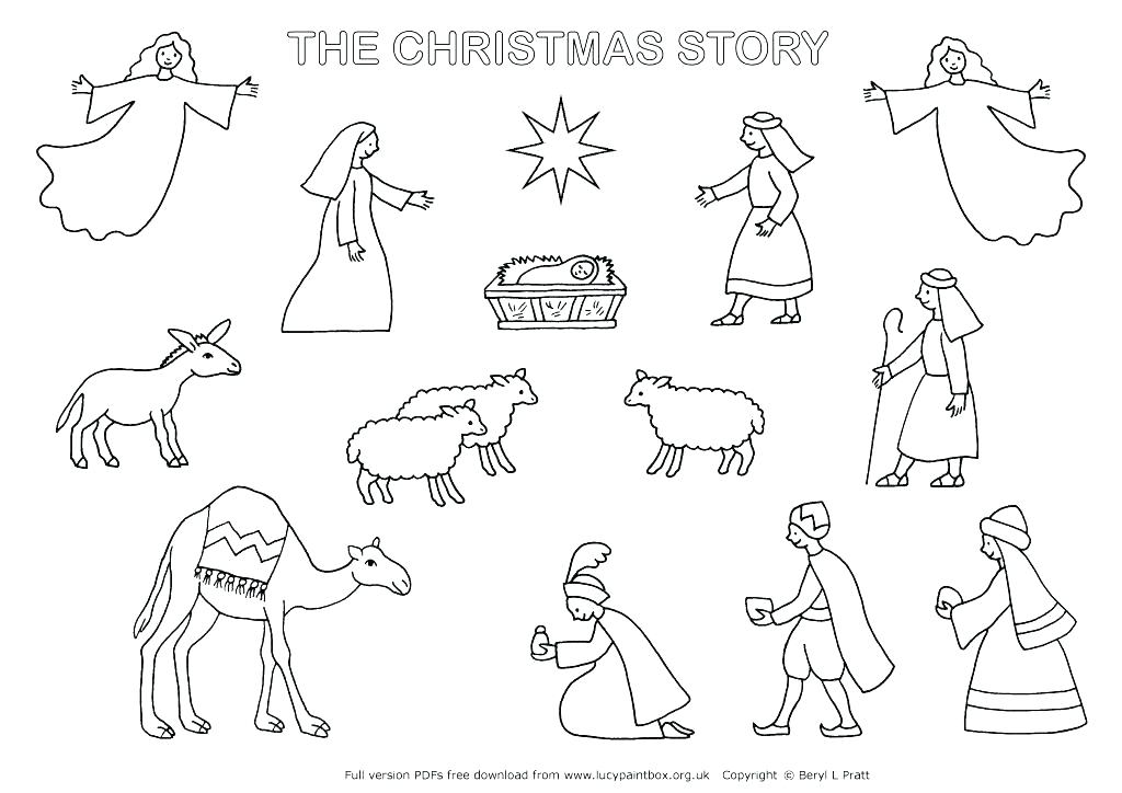 1024x724 Christmas Scene Coloring Pages Scene Coloring Page Christmas